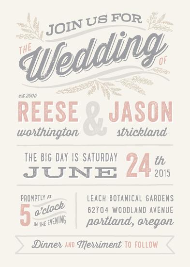 wedding invitations - Rustic Charm by Hooray Creative