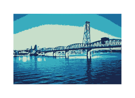 art prints - Hawthorne Bridge by Love Sugar Apple