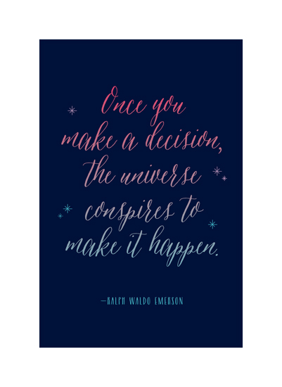 art prints - Once You Make a Decision by Genna Cowsert