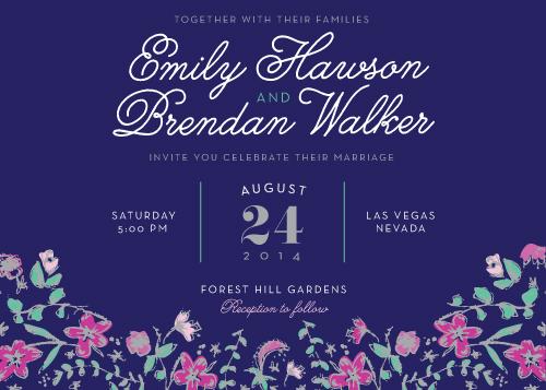 wedding invitations - Garden Vines by Stephanie Bobruska