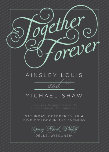 wedding invitations - Together Forever by Stephanie Bobruska