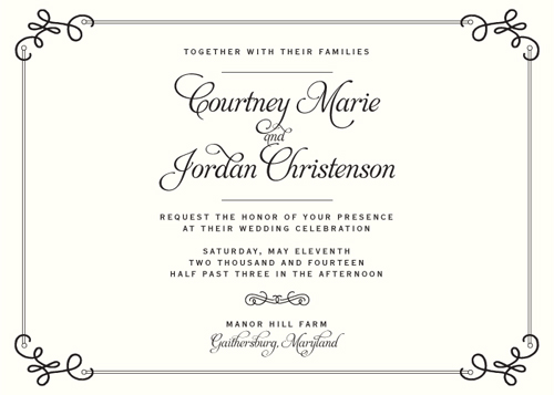 wedding invitations - Classic Ornate by Stephanie Bobruska