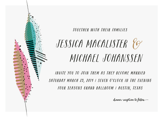 wedding invitations - artsy quill by Rebecca Bowen