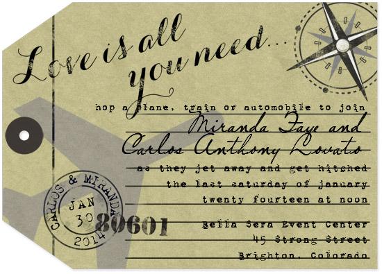 wedding invitations - Travel Tag by Sarah Ballew