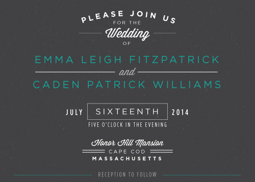 wedding invitations - Authentic Type by Stephanie Bobruska