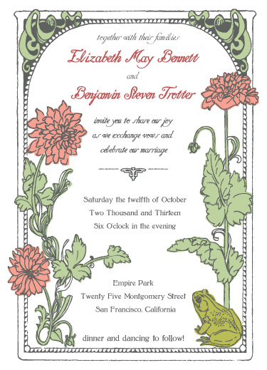wedding invitations - In the Garden by J.C.C.