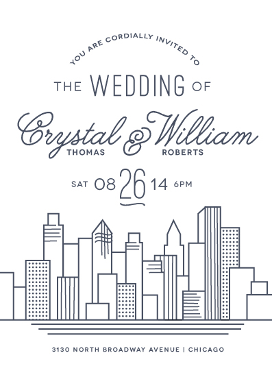 wedding invitations - Cityscape by Jessie Steury