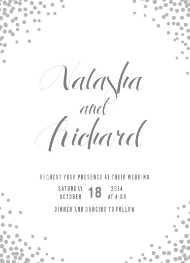 wedding invitations - Confetti Corners by Heather Eikel
