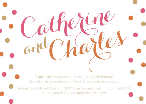 wedding invitations - Modern Polka Dot by Katie Teetzen