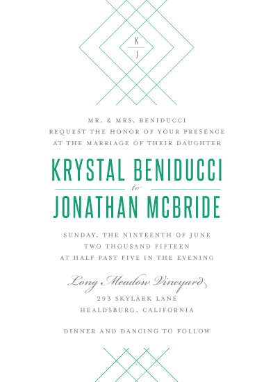 wedding invitations - Lines That Bind by Lindsey Chin-Jones