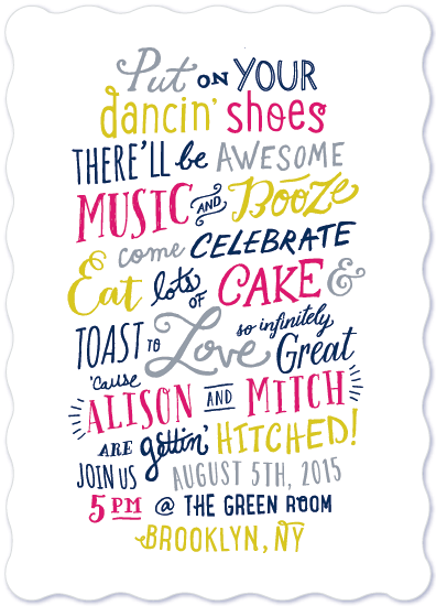 wedding invitations - Gettin Hitched by Hooray Creative