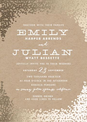 wedding invitations - gold rush by annie clark
