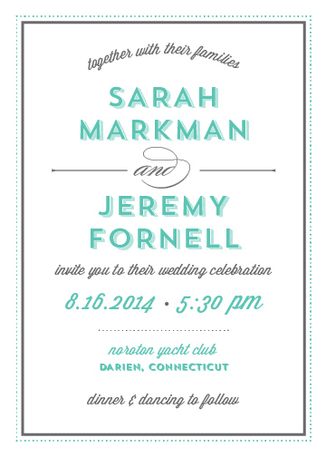 wedding invitations - Modern Country Club by Roseville Designs