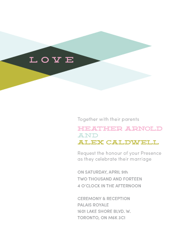 wedding invitations - Mid-Century Love by Melissa DiRenzo