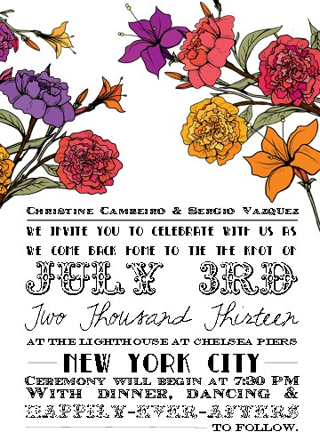 wedding invitations - Floral & Fun by Jessica Jade Cambeiro