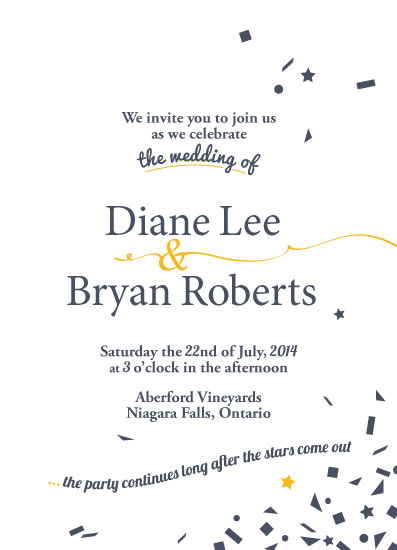 wedding invitations - Confetti by Katelyn Bishop