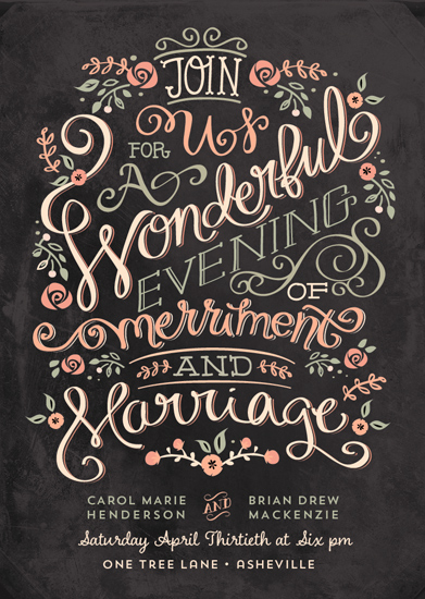 wedding invitations - Merriment by Lori Wemple