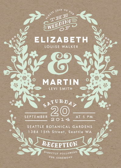 wedding invitations - Ampersand Floral by Alethea and Ruth