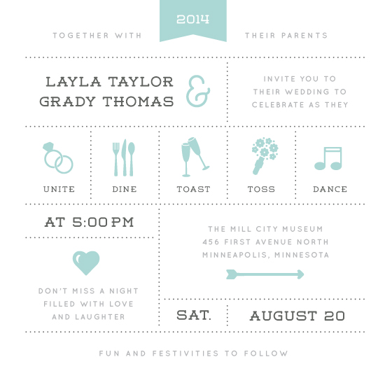 wedding invitations - Celebrate the Day by Michelle Taylor