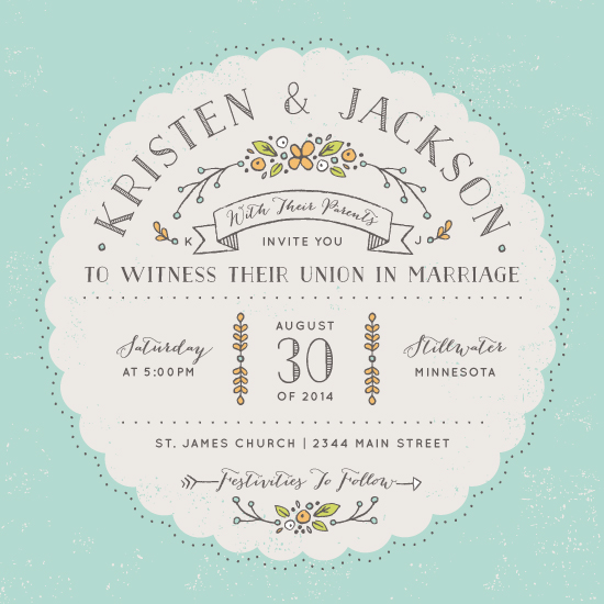 wedding invitations - Floral Wonderland by Michelle Taylor