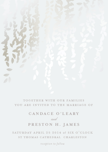 wedding invitations - Cascade by Lori Wemple