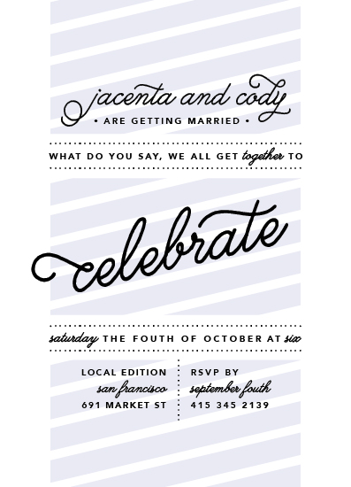 wedding invitations - a casual celebration by danielle jackson