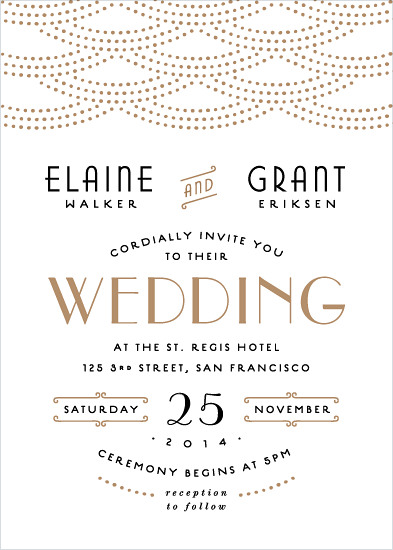 wedding invitations - Gold Glamour by Hooray Creative