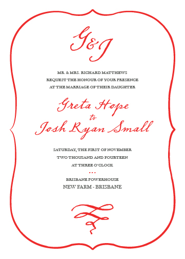 wedding invitations - Miss Greta by Jess J
