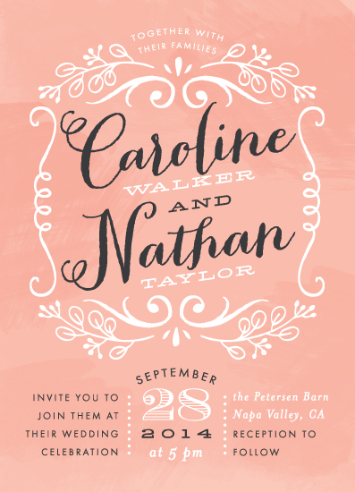 wedding invitations - Sweet Name Frame by Alethea and Ruth