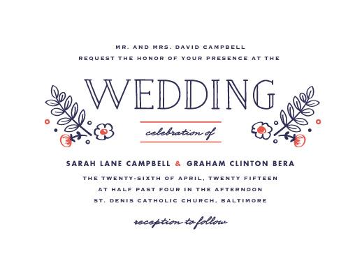 wedding invitations - Blooming by Carolyn MacLaren