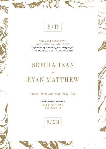 wedding invitations - Modern Marble by Elysse Ricci