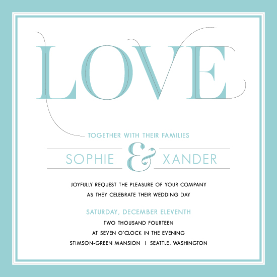 wedding invitations - It's All About the Love by the dotted j