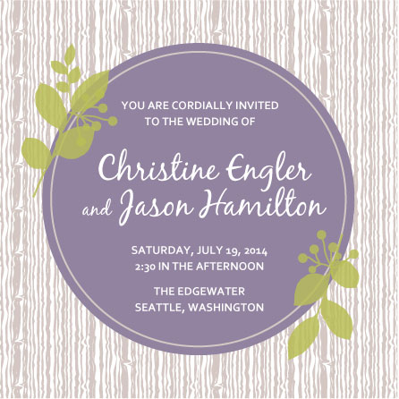 wedding invitations - Woodland Joy by Ann Hurley