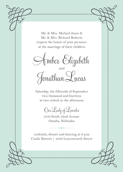 wedding invitations - Simply Mint Elegance by Amy Johnson