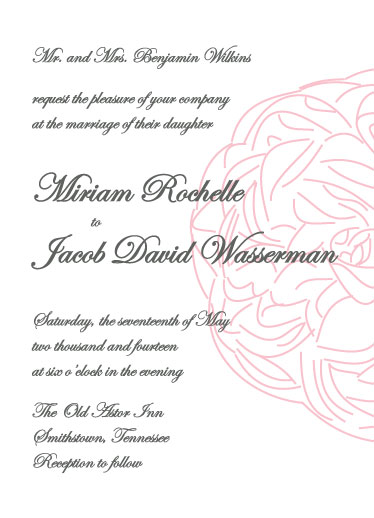wedding invitations - ShyPeony by Lofty Impressions