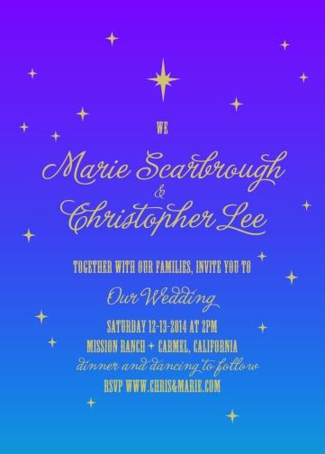 wedding invitations - Winter Stars by Charis