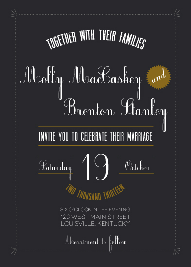 wedding invitations - Much Merriment by kea gwen brooks