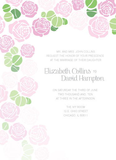 wedding invitations - Love Blooms by Maureen Masters