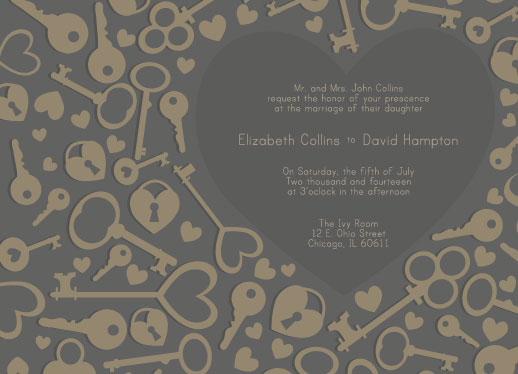 wedding invitations - The Key to my Heart by Maureen Masters