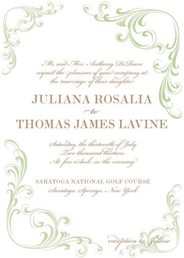 wedding invitations - Romantic Flourish by Corinna Beau Letterpress