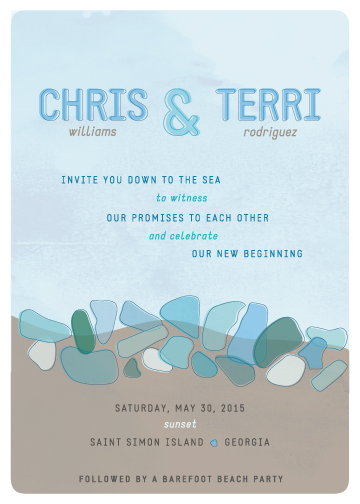 wedding invitations - Seaglass by Maggie Ziomek