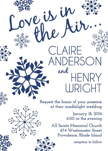 wedding invitations - Heartfelt Snowflakes by Jodi VanMetre