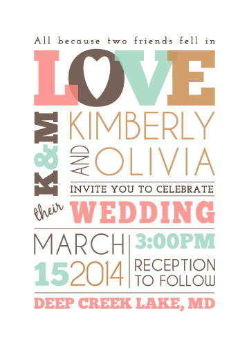 wedding invitations - All because of love by Jodi VanMetre
