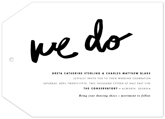 wedding invitations - We Do by Kelly Nasuta