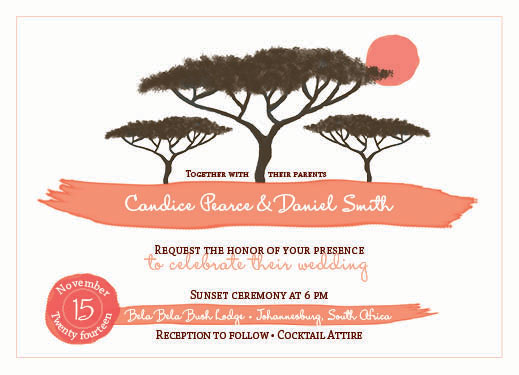 wedding invitations - Heart of Africa by Nicole Ehrlich