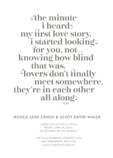wedding invitations - A Love Story by Holly Hanna