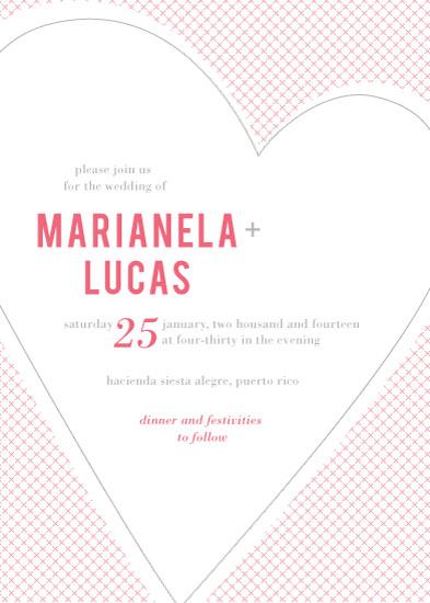 wedding invitations - Big Heart by Holly Hanna