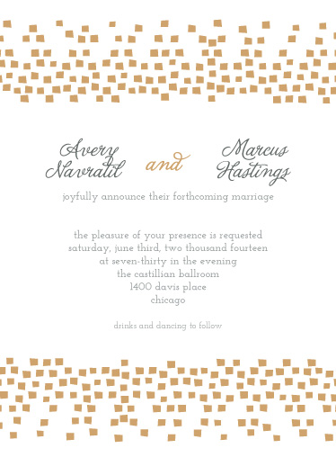wedding invitations - Confetti Reflections by Heather Steed