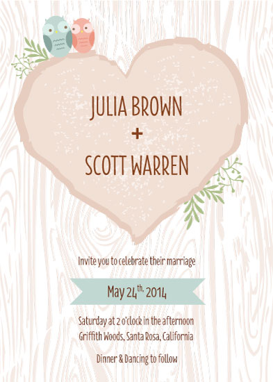 wedding invitations - Love is a Hoooot by Laura Knopp