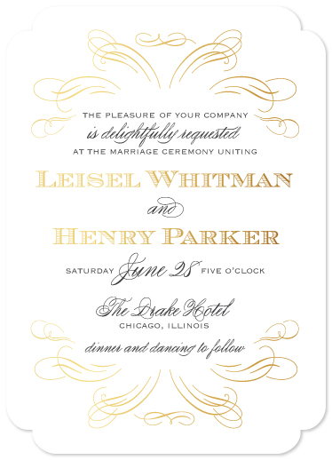 wedding invitations - Delicate Romance by Courtney Brady